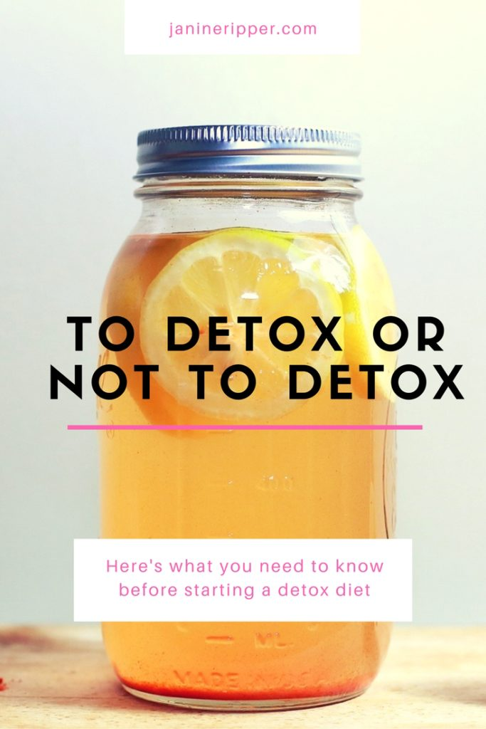 Here's what you need to know before starting a detox diet