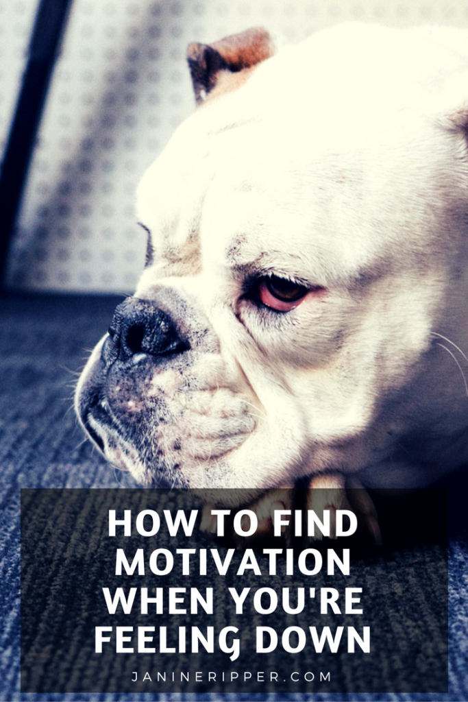 When you're feeling down it can be hard to find motivation. Sometimes to even do the basics. So how do you find motivation when you're feeling down?