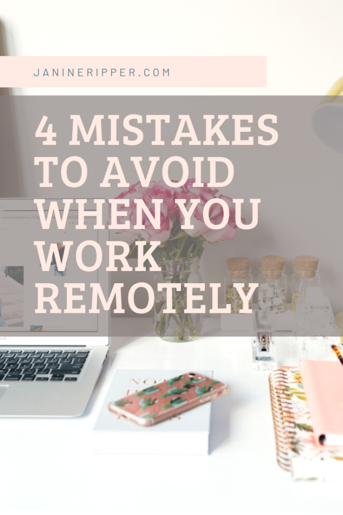 working remotely and mistakes
